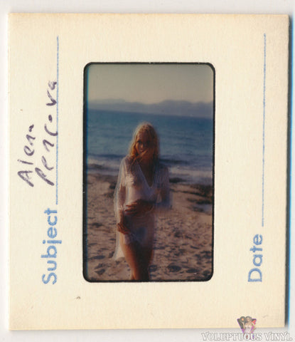 Alena Penz Beach Wet T-Shirt 1960's Color Positive Film Slide