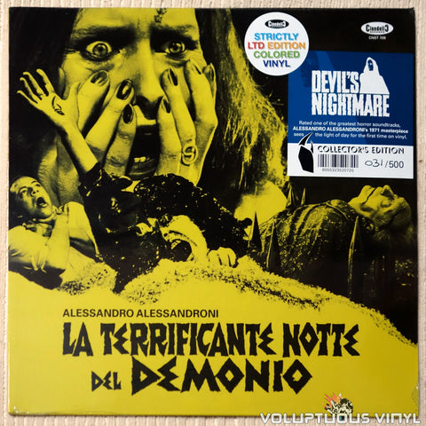 Alessandro Alessandroni ‎– La Terrificante Notte Del Demonio (Devil's Nightmare) (2017) Blue Vinyl, Italian Press SEALED
