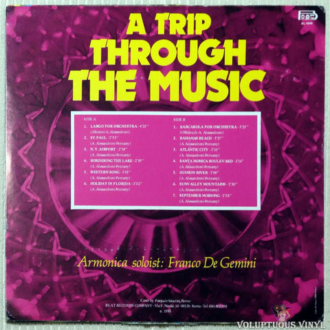 Alessandro Alessandroni Orchestra ‎– A Trip Through The Music vinyl record back cover