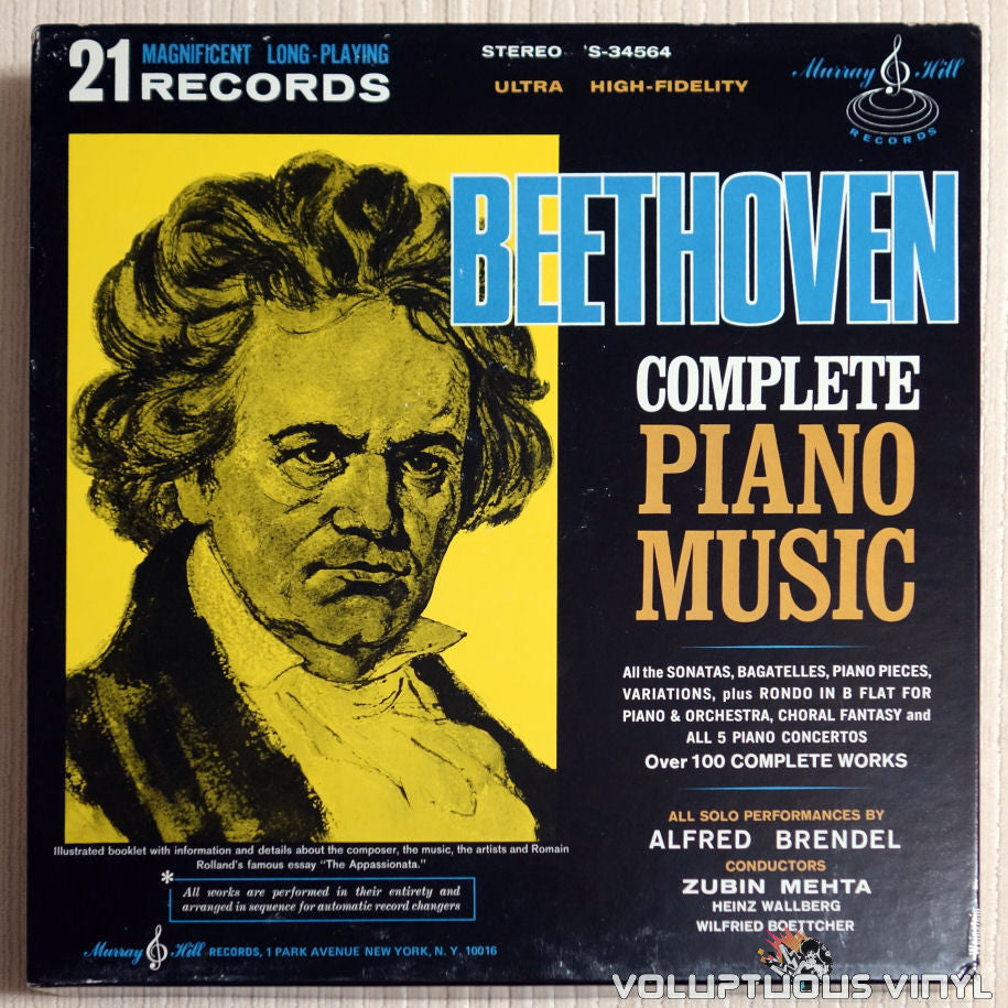 Alfred Brendel ‎– Beethoven Complete Piano Music - Vinyl Record - Front Cover