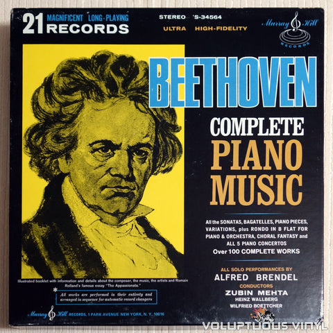 Alfred Brendel ‎– Beethoven Complete Piano Music (1968) 21xLP Box Set!!!