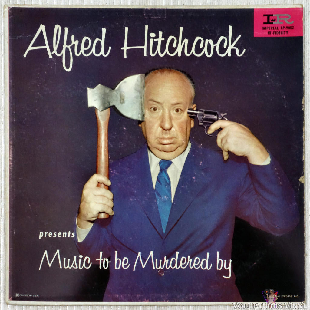 Alfred Hitchcock ‎– Presents Music To Be Murdered By vinyl record front cover