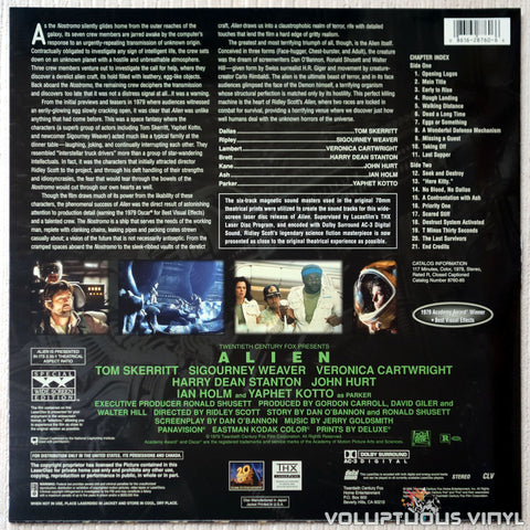 Alien - LaserDisc - Back Cover