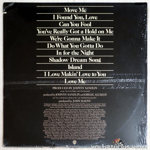 Allman And Woman ‎– Two The Hard Way - Vinyl Record - Back Cover