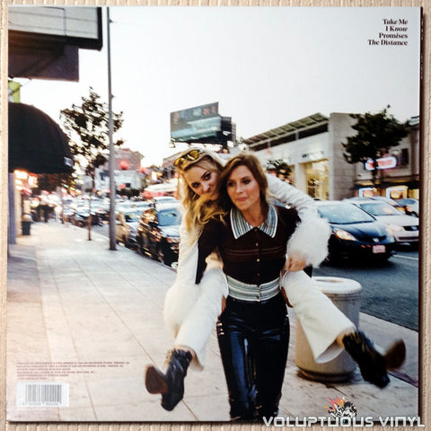 Aly & AJ Ten Years vinyl record back cover