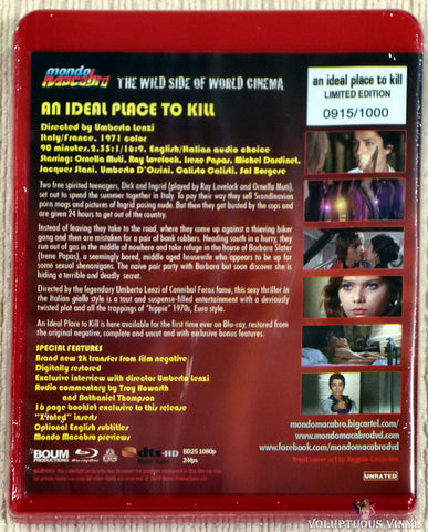 An Ideal Place To Kill blu-ray back cover
