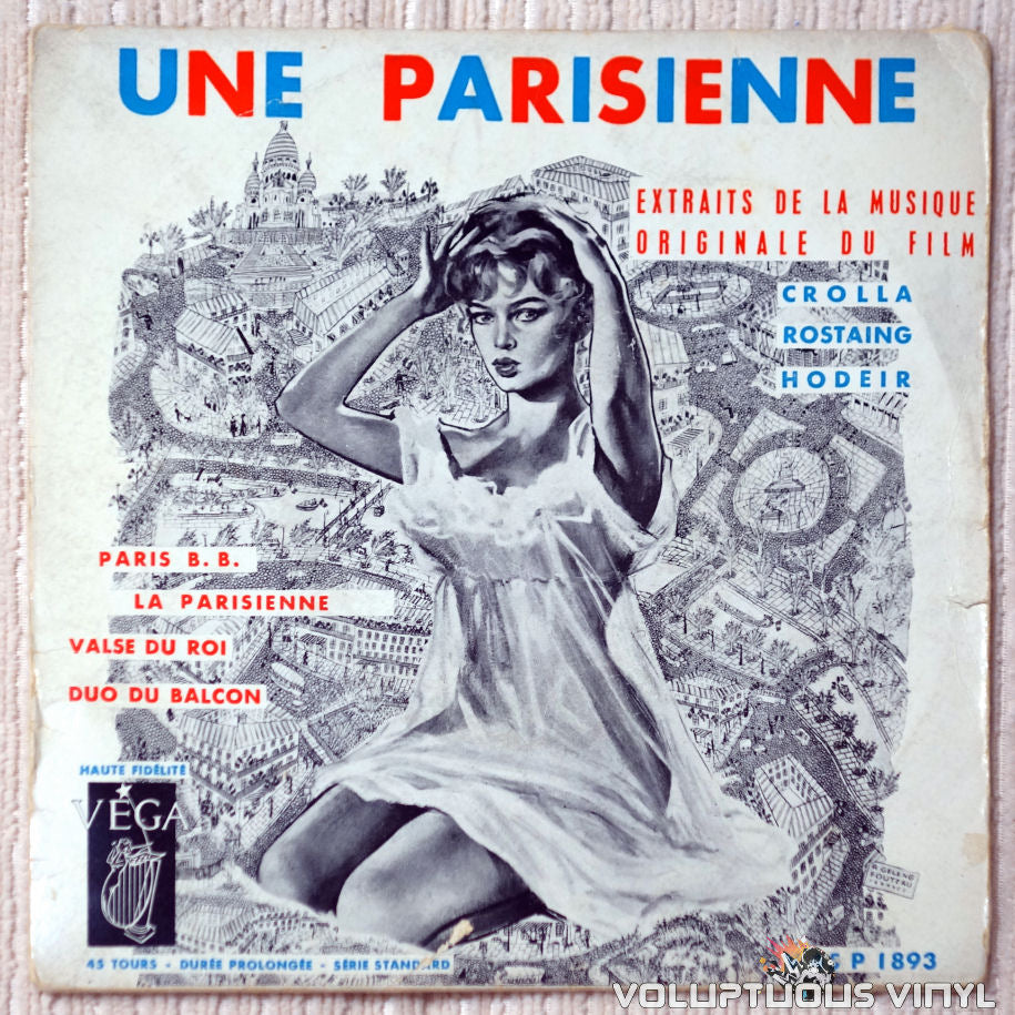 André Hodeir, Henri Crolla, Hubert Rostaing – Une Parisienne vinyl record front cover