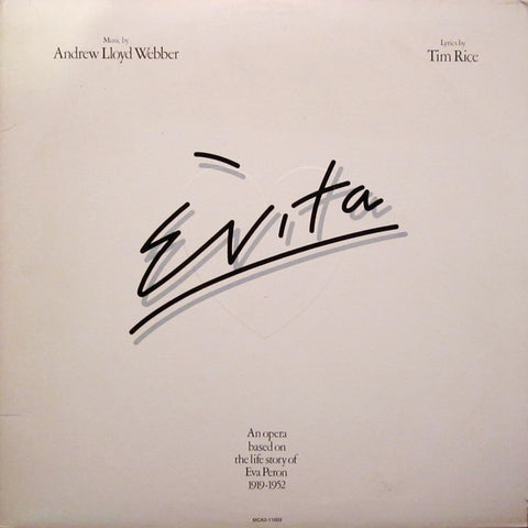 Andrew Lloyd Webber And Tim Rice ‎– Evita (1976) Cheap Vinyl Record