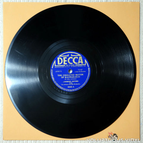 "Andrews Sisters, The ‎– The Cockeyed Mayor Of Kaunakakai / Let's Pack Our Things And Trek (1940) 10"" Shellac"