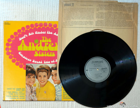 The Andrews Sisters ‎– Don't Sit Under The Apple Tree vinyl record