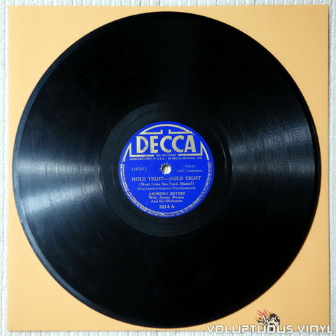 "Andrews Sisters, The – Hold Tight, Hold Tight (Want Some Seafood, Mama?) / Billy Boy (1938) 10"" Shellac"