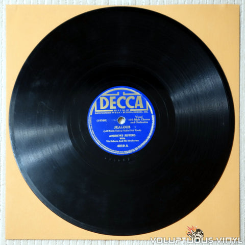 "Andrews Sisters, The ‎– Jealous / Rancho Pillow (1941) 10"" Shellac"