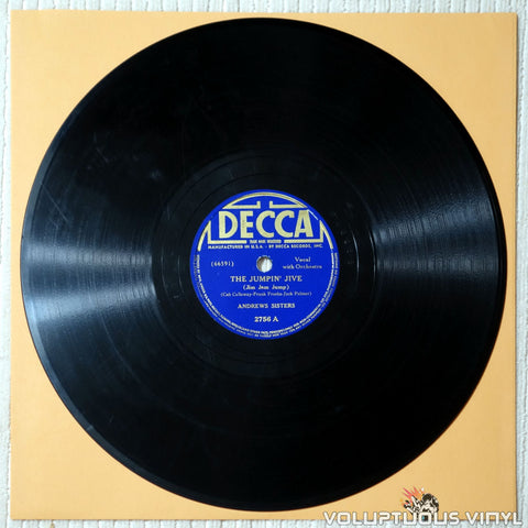 "Andrews Sisters, The – The Jumpin´Jive / Chico's Love Song (1939) 10"" Shellac"