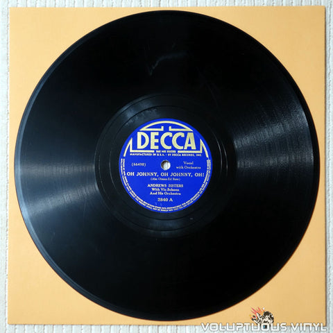 "Andrews Sisters, The ‎– Oh Johnny, Oh Johnny, Oh! / South American Way (1939) 10"" Shellac"