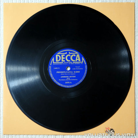 "Andrews Sisters, The ‎– Pennsylvania 6-5000 / Beat Me Daddy, Eight To A Bar (1940) 10"" Shellac"