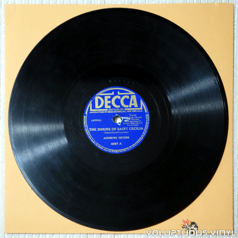 "Andrews Sisters, The ‎– The Shrine Of Saint Cecilia / Jack Of All Trades (1941) 10"" Shellac"