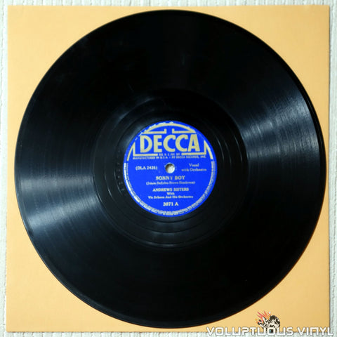 "Andrews Sisters, The ‎– Sonny Boy / Gimme Some Skin, My Friend (1941) 10"" Shellac"