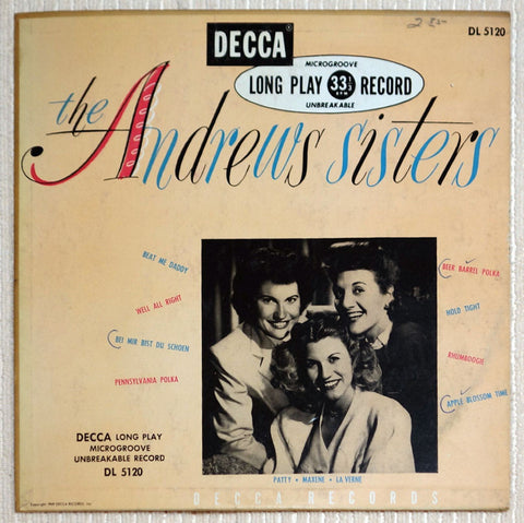 "The Andrews Sisters 10"" Debut Album Vinyl Record Front Cover"