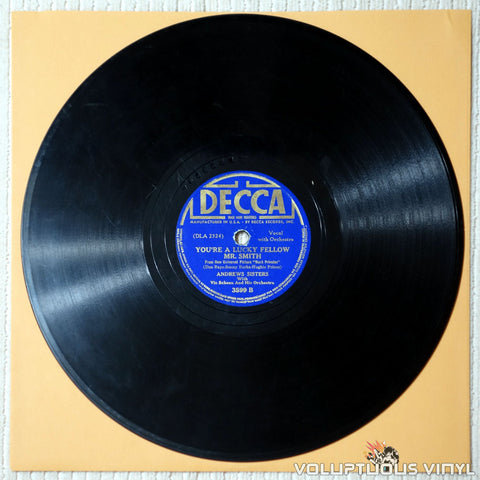 Andrews Sisters, The ‎– You're A Lucky Fellow Mr. Smith - Shellac