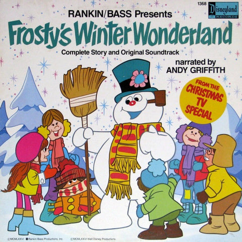 Andy Griffith ‎– Frosty's Winter Wonderland (1976) Vinyl Record