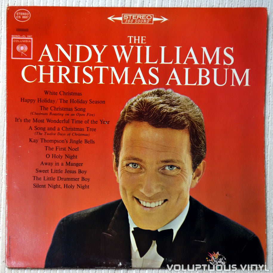 Andy Williams ‎– The Andy Williams Christmas Album vinyl record front cover