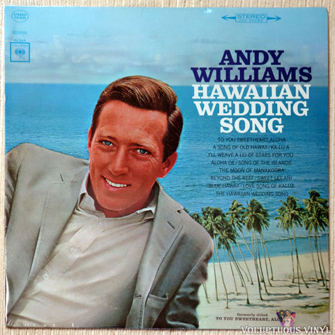 Andy Williams ‎– Hawaiian Wedding Song vinyl record front cover