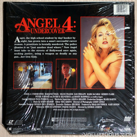 Angel 4: Undercover - LaserDisc - Back Cover