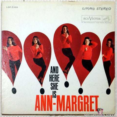 Ann-Margret ‎– And Here She Is vinyl record front cover