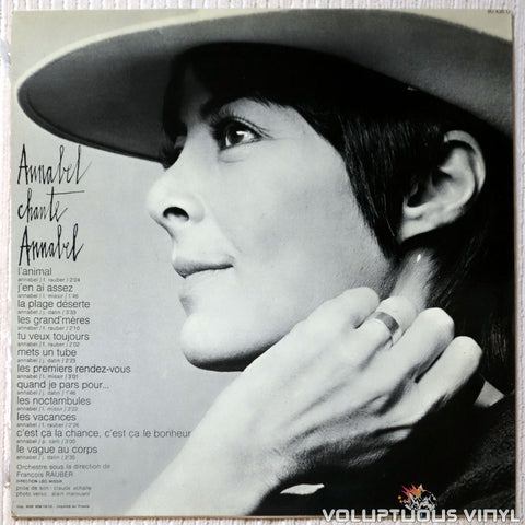 Annabel Buffet ‎– Annabel 71 vinyl record back cover
