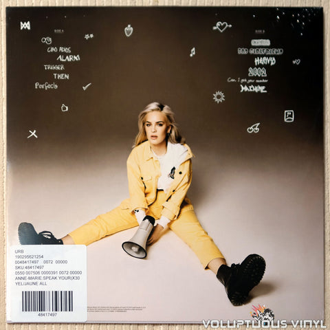 Anne-Marie ‎– Speak Your Mind vinyl record back cover