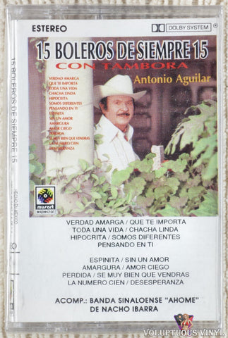Antonio Aguilar ‎– 15 Boleros De Siempre 15 Con Tambora (1992) Mexican Press, SEALED