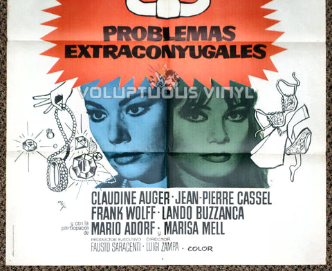 Anyone Can Play 1975 Spanish 1 Sheet Movie Poster for Italian Comedy with Marisa Mell, Ursula Andress, Virna Lisi & Claudine Auger Bottom Half