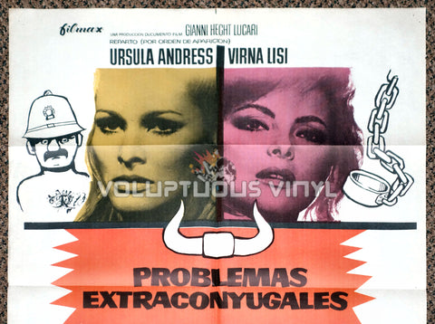 Anyone Can Play 1975 Spanish 1 Sheet Movie Poster for Italian Comedy with Marisa Mell, Ursula Andress, Virna Lisi & Claudine Auger Top Half