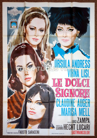 Anyone Can Play (1968) - Italian 4F - Virna Lisi, Ursula Andress, Claudine Auger & Marisa Mell - Poster