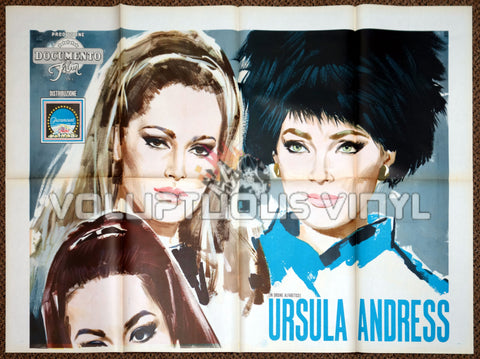 Anyone Can Play (1968) - Italian 4F - Virna Lisi, Ursula Andress, Claudine Auger & Marisa Mell - Poster Top Half