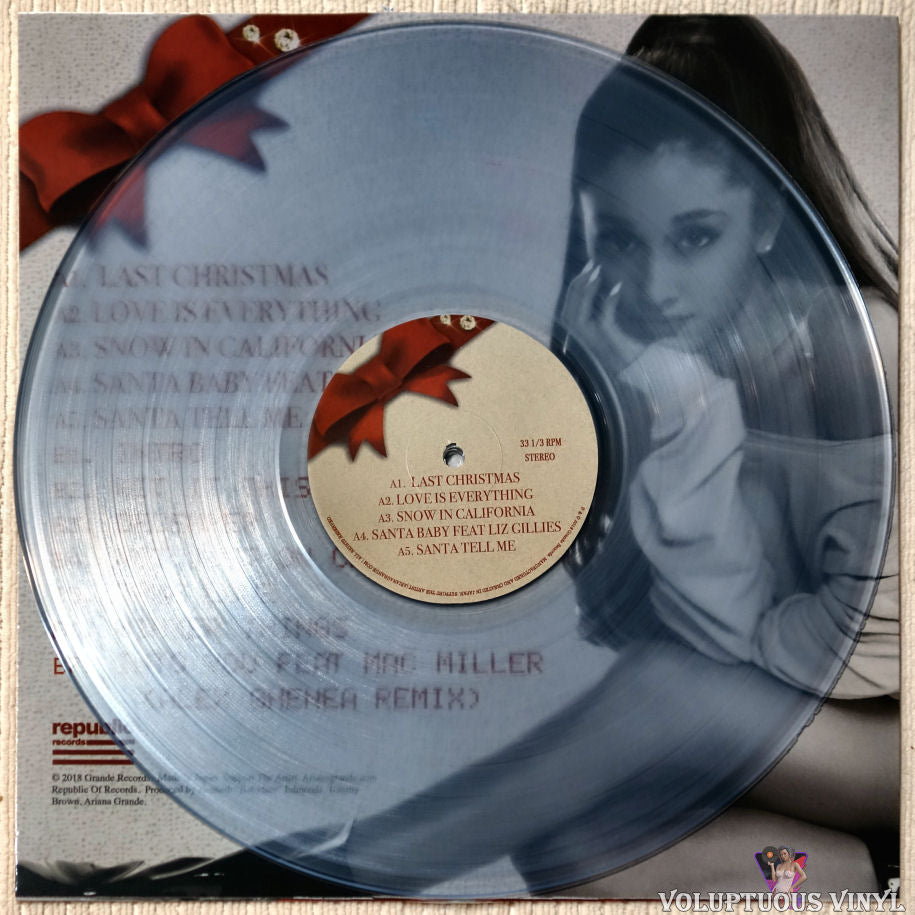 Christmas And Chill.Ariana Grande Christmas Kisses Chill 2018 Unofficial Clear Vinyl