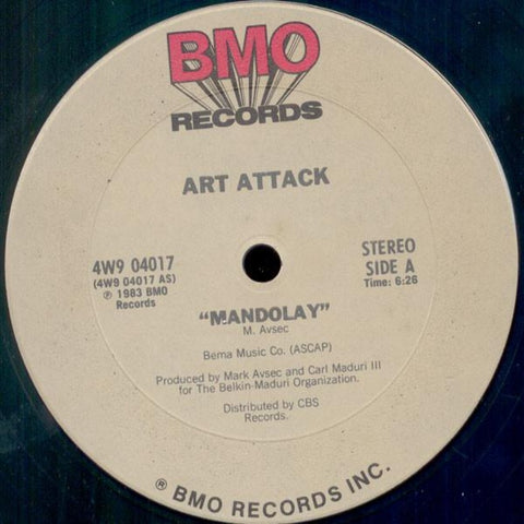 "Art Attack ‎– Mandolay (1983) 12"" Single"