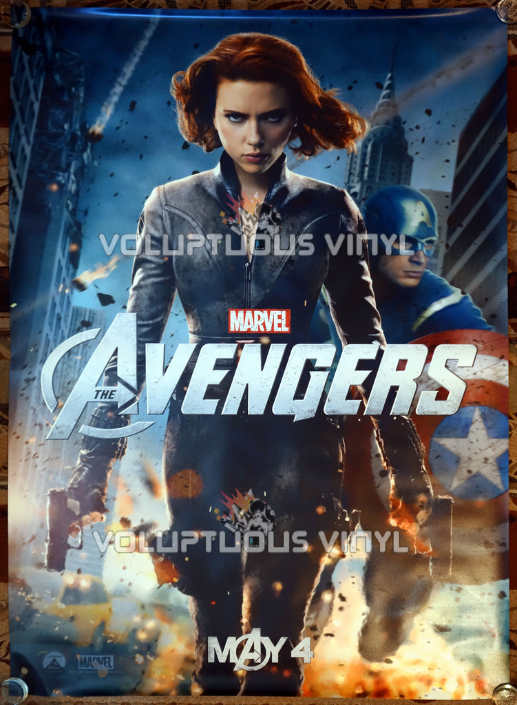 The Avengers (2012) - US Bus Shelter Poster - Scarlett Johanson - Black Widow