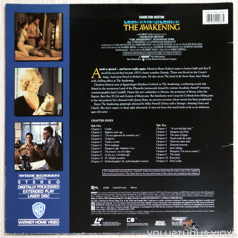 The Awakening - Laserdisc - Back Cover