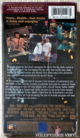 Bachelor Party VHS back cover