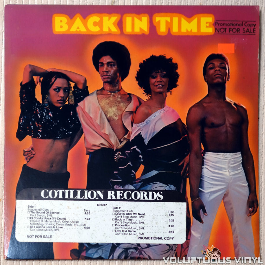 Back In Time ‎– Back In Time - Vinyl Record - Front Cover