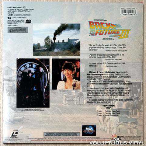 Back To The Future Part III - LaserDisc - Back Cover