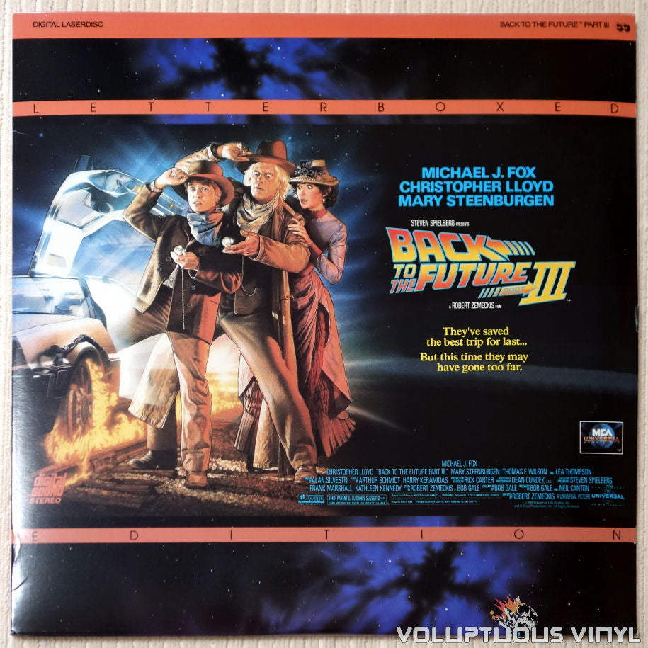Back To The Future Part III - LaserDisc - Front Cover