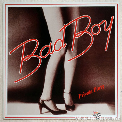 Bad Boy ‎Private Party Vinyl Record Front Cover