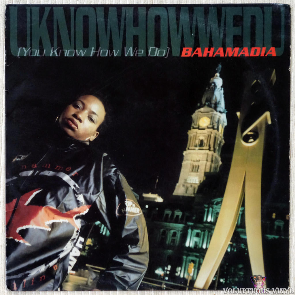 Bahamadia ‎– Uknowhowwedu (You Know How We Do) vinyl record front cover