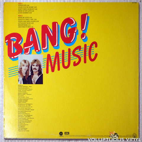 Bang ‎– Music - Vinyl Record - Back Cover