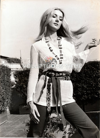 Barbara Bouchet - 1970's Bohemian Outfit Over-sized Photo