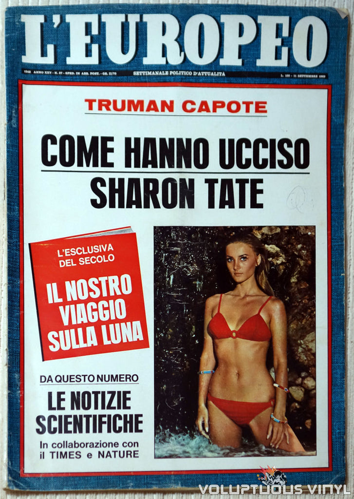 L'Europeo - September 11, 1969 - Barbara Bouchet Bikini Front Cover