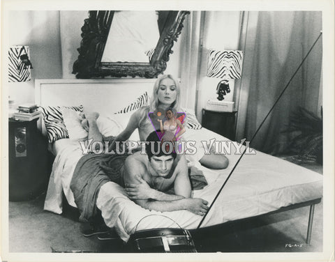 Barbara Bouchet - Winged Devils nude in bed photograph