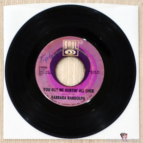 Barbara Randolph ‎– I Got A Feeling vinyl record Side B